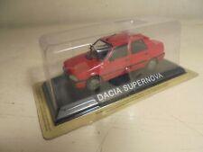 DeAgostini 1/43#diecast- DACIA Supernova -4dr saloon-red  NEW/blisterpack