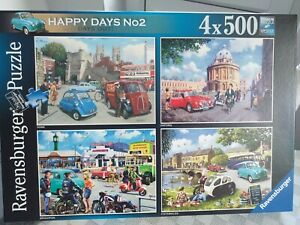 Ravensburger 4 x 500 pieces jigsaws - Happy Days No2. Complete, used once.