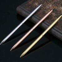 Metal Ballpoint Pens Slim Ball Pen For Business Writing Suppl School Office L2J8
