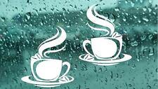 2X tazze di caffè tè Cucina Adesivi Murali CAFE in Vinile ARTE Decalcomanie BAR CASA