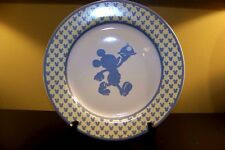 "Disney Silhouette Chef Mickey Mouse Stoneware 2003 12"" Serving Plate Dinner"