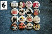 "alternative new wave Band Buttons Pins 80s Music 1"" Badge Lot pinback Prince"