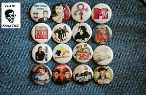 """alternative new wave Band Buttons Pins 80s Music 1"""" Badge Lot pinback Prince"""