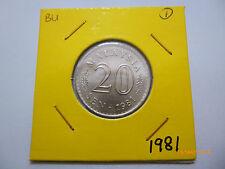 Malaysia 20 Sen 1981 - BU