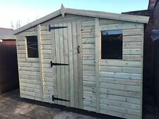 GARDEN SHED TANALISED ULTIMATE HEAVY DUTY 10X8 REVERSE APEX 22MM T&G.  3X2.