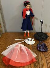 Mary Poppins Barbie Doll 1993 Mattel Disney