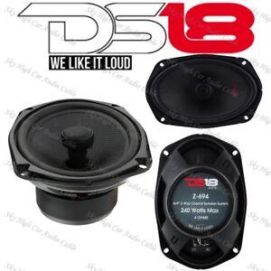 "DS18 Elite Z 694 6x9"" 2-way Coaxial Speaker Set 4ohm Includes Grills Pair"
