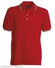 Polo Unisex Payper Italia cotone 100 Manica corta tricolore 4xl Rosso