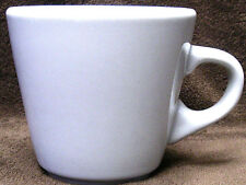 Set of 4 (four) COFFEE MUGS Inter American WHITE PORCELAIN CUPS Made in Poland