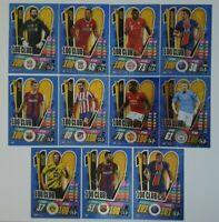 2020/21 Match Attax UEFA - Full Set of 100 Club cards Messi Mbappe Haaland