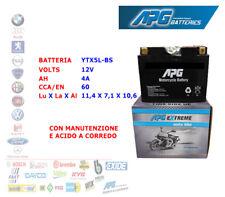 BATTERIA MOTO SCOOTER QUAD 12V 4A CCA/EN 60 YTX5L-BS APG EXTREME XETX5LBS