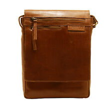 Rowallan - Cognac Pittsburgh Messenger Bag in Oil Tanned Buffalo Leather