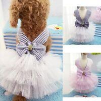 Summer Pet Puppy Small Dog Cat Clothes Tutu Dress Princess Skirt Apparel Costume