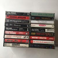 Lot Of Classic Rock And Rock Cassettes!! Doors U2 Aerosmith Queen +more!!