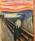 Edvard Munch the Scream Repro, Quality 100% Hand Painted Oil Painting, 20x24in