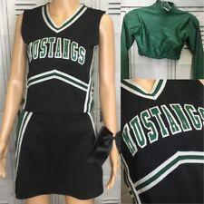 "New listing Real Cheerleading Uniform Mustangs  Adult 36""top 30"""