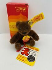 "Steiff #0206/11 Original Teddy Bear, Chocolate Brown color, 4"""