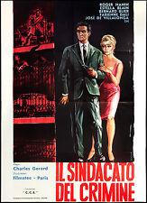 CINEMA-manifesto IL SINDACATO DEL CRIMINE hanin, blain, blier; GERARD