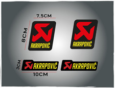 4 Adesivi Adesivo Sticker Pegatina AKRAPOVIC  SUZUKI KTM EXAUST moto offroad