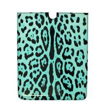 NUEVO DOLCE & GABBANA FUNDA TABLET piel turquesa diseño de leopardo
