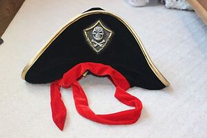 Little Daydreamers by Elope Kids Child Boy Girl Pirate Hat Red Black Gold Child