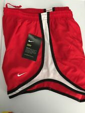 NWT Women's NIKE TEMPO DRI-FIT RUNNING SHORTS SZ SMALL RED/WHITE 716453 611