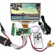 """VGA 2AV LCD Controller Board With 7"""" AT070TN92 800×480 Touch LCD Screen"""