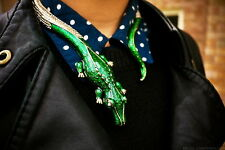 GENUINE ANNA DELLO RUSSO AdR H&M DIAMANTE ALLIGATOR CROCODILE COLLAR NECKLACE