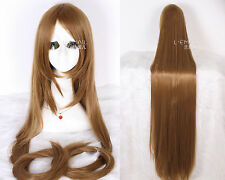 Chobits Light Brown 150cm Long Straight Hairs Anime Party Cosplay Wigs+Wig Cap