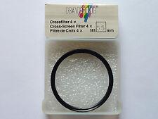 Crossfilter -Gitterfilter -Sternfilter  4x  55mm vergütet  Kaiser  Neuware/OVP