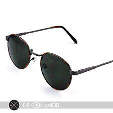 Retro Classic Vintage Round Tortoise Gunmetal Metal Frame Sunglasses Lennon S229