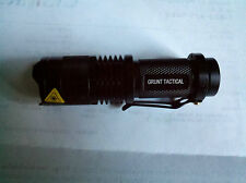 CREE XR-E Q5 LED Zoomable Focus 7W 300LM Mini Flashlight