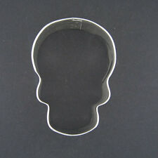 """SKULL 3"""" COOKIE CUTTER FONDANT SCARY PIRATE THEME PARTY FAVORS NEW BONES"""