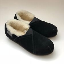 Australia Luxe Collective Womens Loaf Genuine Shearling Slip On Black Suede Sz 6