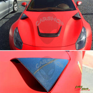 For Ferrari F12 Berlinetta 3PCS Real Carbon Fiber Front Hood Engine Cover Trim