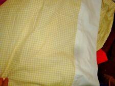 Westpoint Stevens Yellow White Checkered Extra Deep Pockets 2 pc Full Sheet Set