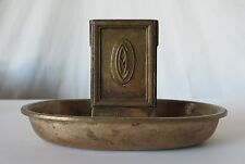 GORHAM CO. VINTAGE BRASS MATCH HOLDER ASHTRAY