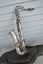 Vintage The Buescher C Melody Low Pitch Silver Saxophone Untested