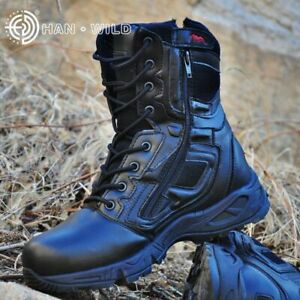 Men's Army Tactical Boots Military Combat Waterproof Leather Outdoor Shoes