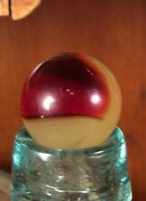 """Vintage 3/4"""" Agate Lemonade Cherry Patch Marble Machine Made Reactive"""