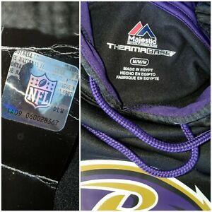 Baltimore Ravens Men's Purple Majestic NFL Hoodie men's MED NWT THERMABASE