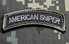 AMERICAN SNIPER TAB ARMY USA ISAF SWAT VELCRO® BRAND FASTENER MORALE PATCH