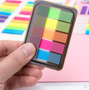 Fluorescence Easy Use Sticky Notes Marker Bookmark Memo Index Free Shipping