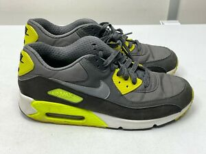 NIKE AIR MAX 90 TRAINERS, BLACK/GREY/YELLOW UK SIZE 9.5