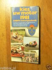 1981 KIES UW MOTOR MOTORCYCLE MODELS DUTCH MARKET,HONDA,SUZUKI,YAMAHA,KAWASAKI,