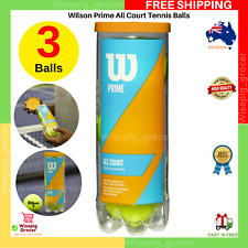 Wilson Prime All Court Surfaces Tennis Balls | Pack of 3 | NEW FREE SHIPPING AU
