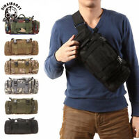 Outdoor Tactical Militay 3P Waist Pack Shoulder Pouch Molle Trekking Hiking Bag