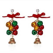 Chandelier Earrings Jewelry Xmas Gift Women Fashion Jingle Bells Bows Christmas
