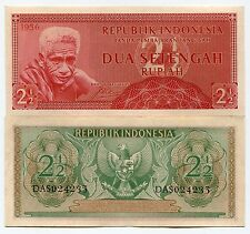Indonesia 1956 UNC/XF Banknote RP 2.5 Rupiah
