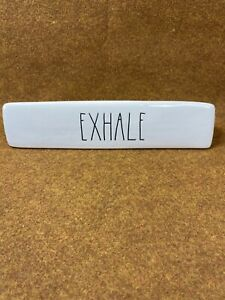 Rae Dunn INHALE/EXHALE Two Sided, DESK PLAQUE Large Letters, paperweight
